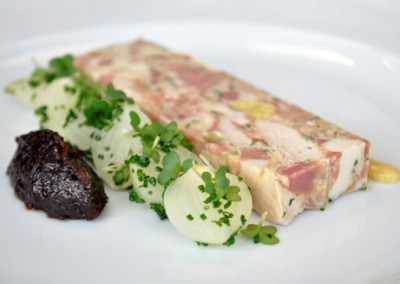 Chicken and Smoked Ham Hock Terrine