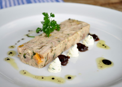 Chicken and Apricot with Tarragon Terrine