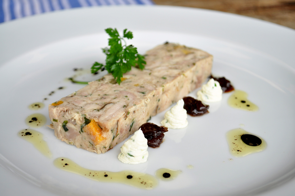 Chicken & Apricot with Tarragon Terrine
