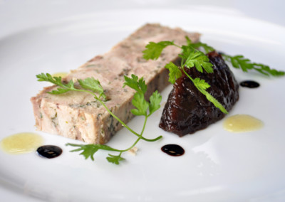 Chicken and Duck with Red Onion Marmalade Terrine