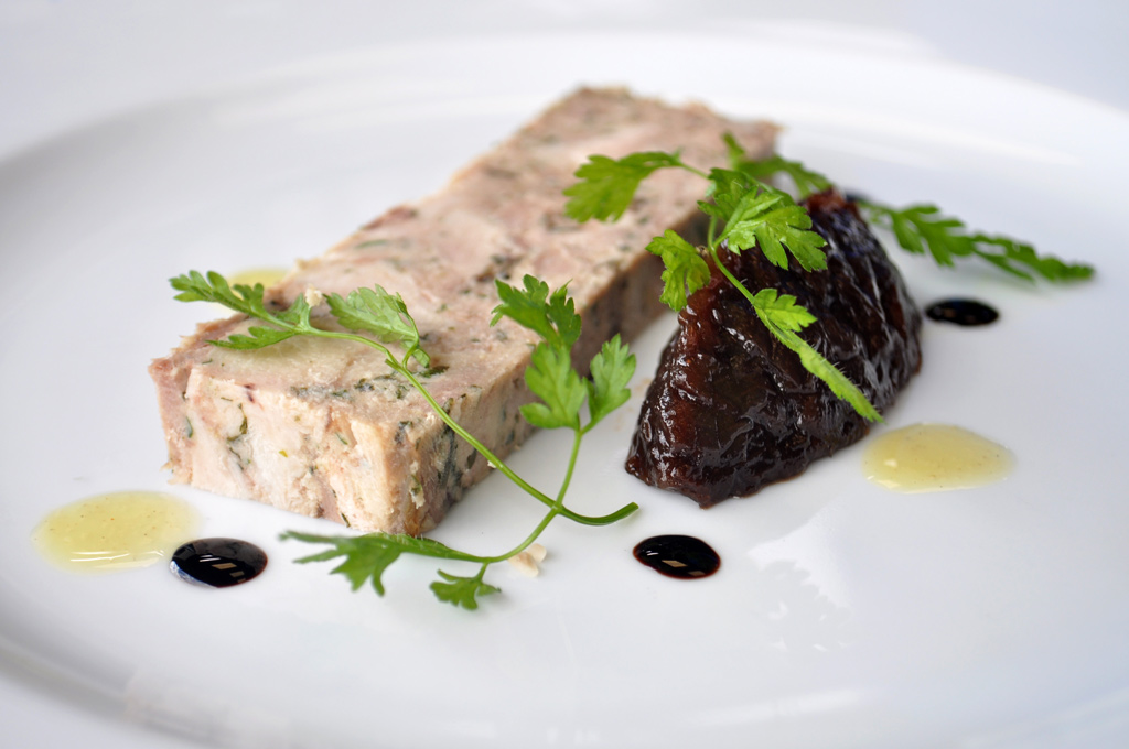 Chicken & Duck with Red Onion Marmalade Terrine