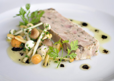 Chicken, Smoked Duck and Wild Mushroom Terrine