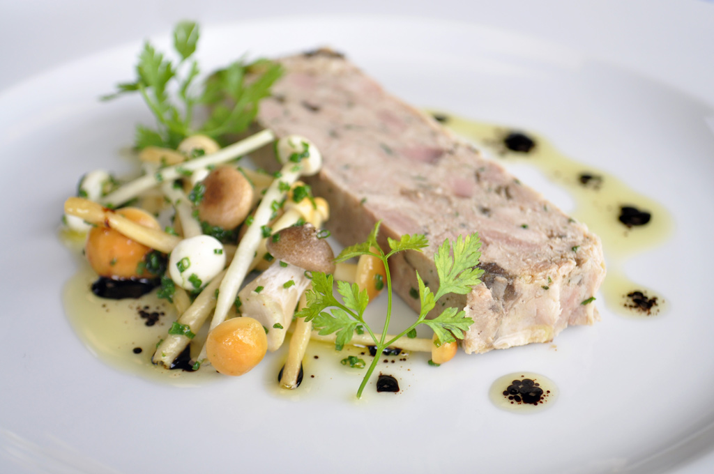 Chicken Smoked Duck & Wild Mushroom Terrine