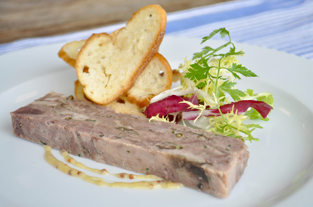 Cured Venison Green Peppercorn & Red Onion Marmalade Terrine