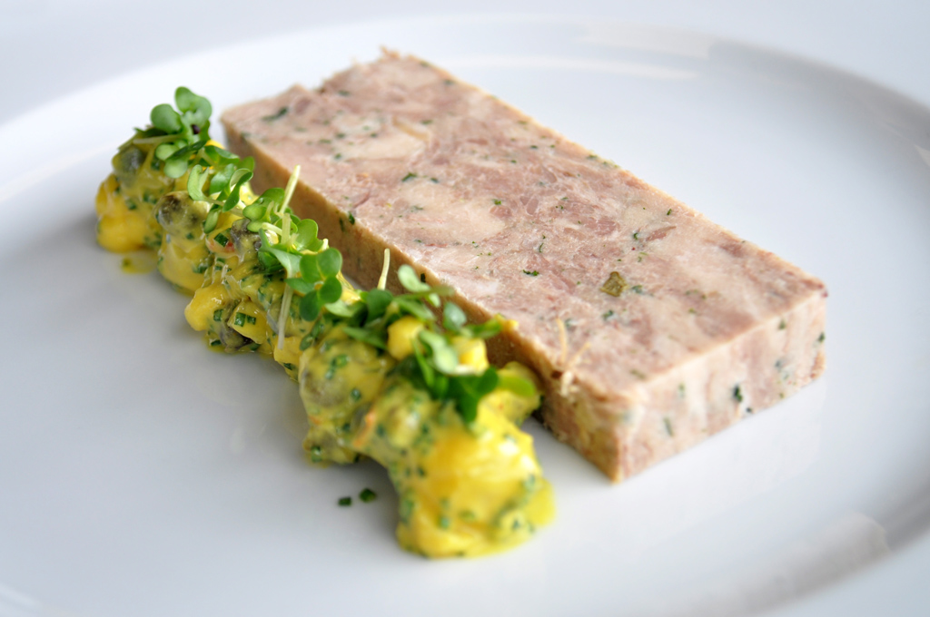 Slow-Cooked Pork Belly & Confit Duck Terrine