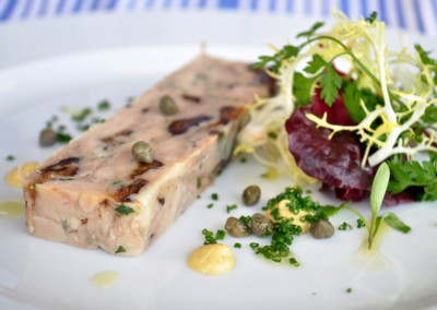 Slow Cooked Pork Belly and Prune Terrine