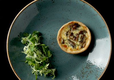 Mushroom, Cheddar & Roasted Garlic Tartlet