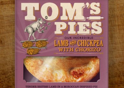 Tom's Pies Lamb, Chickpea & Chorizo