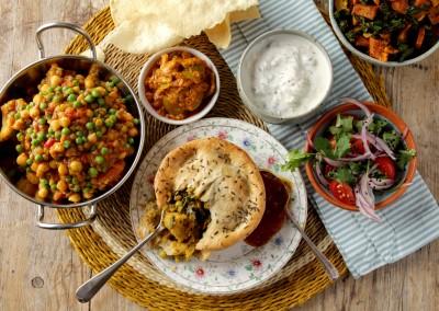 Tom's Pies Spiced Cauliflower, Lentil & Spinach (V)- TURNING VEGAN WINTER 2019