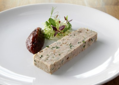 Smoked Chicken and Herb Terrine