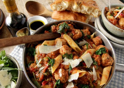 Pork Meatballs in Chilli & Tomato Sauce