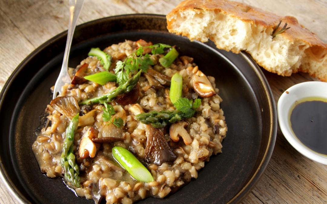 Wild Mushroom, Spelt & Pearl Barley Risotto